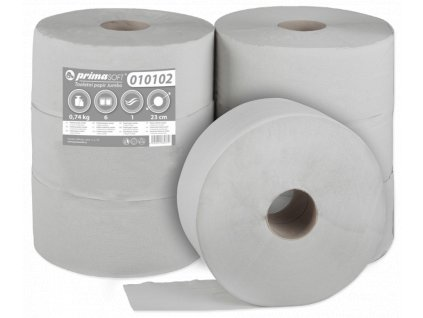 Toaletní Papír Jumbo průměr 23cm/1vr. recykl bal/6rol (202)