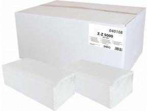 Papírové ručníky ZZ bílé 1vr. 5000ks