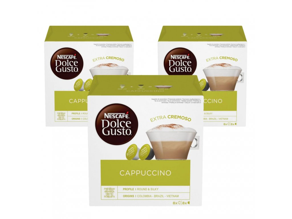 Kapsle Nescafé Dolce Gusto Cappuccino 3 BALENÍ