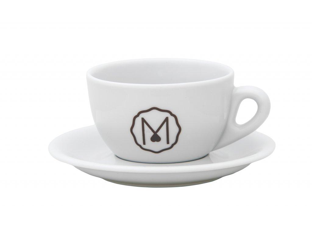 MIKAH porcelánový šálek s podšálkem pro Cappuccino 220 ml