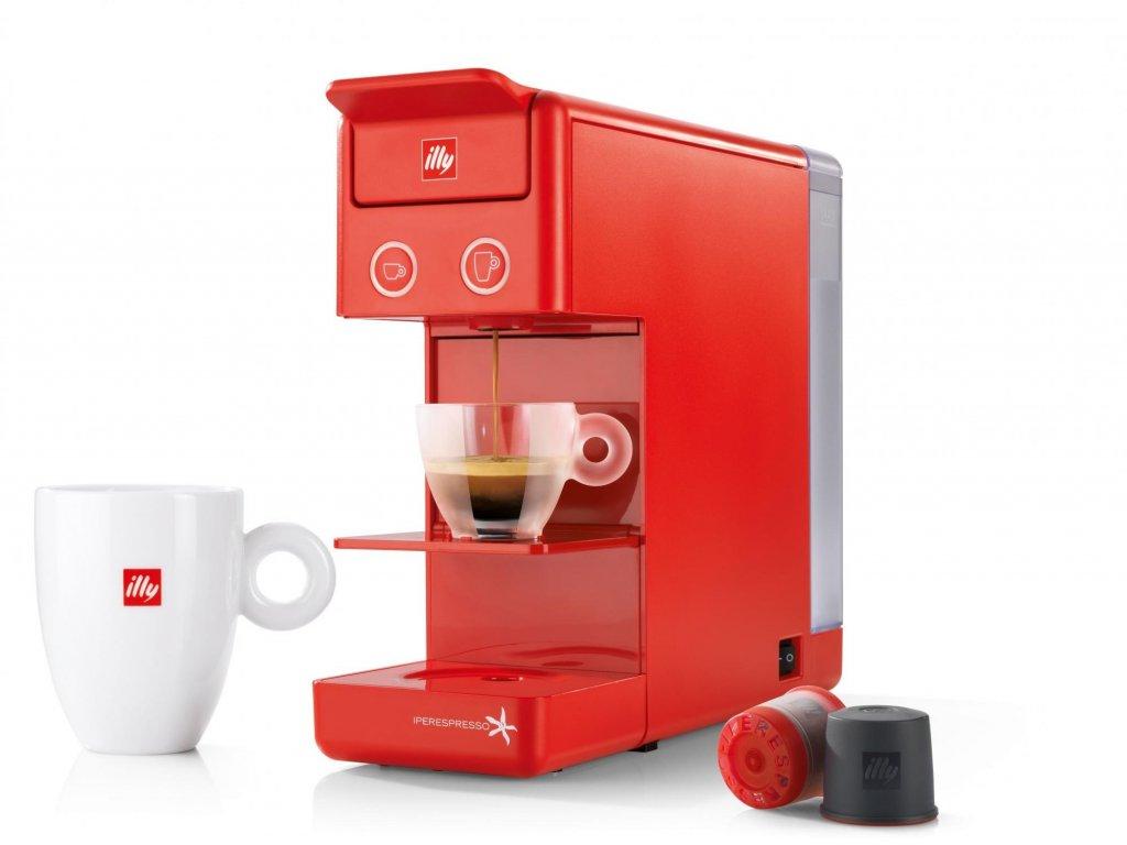 Kávovar Illy Francis Y3.2 červený
