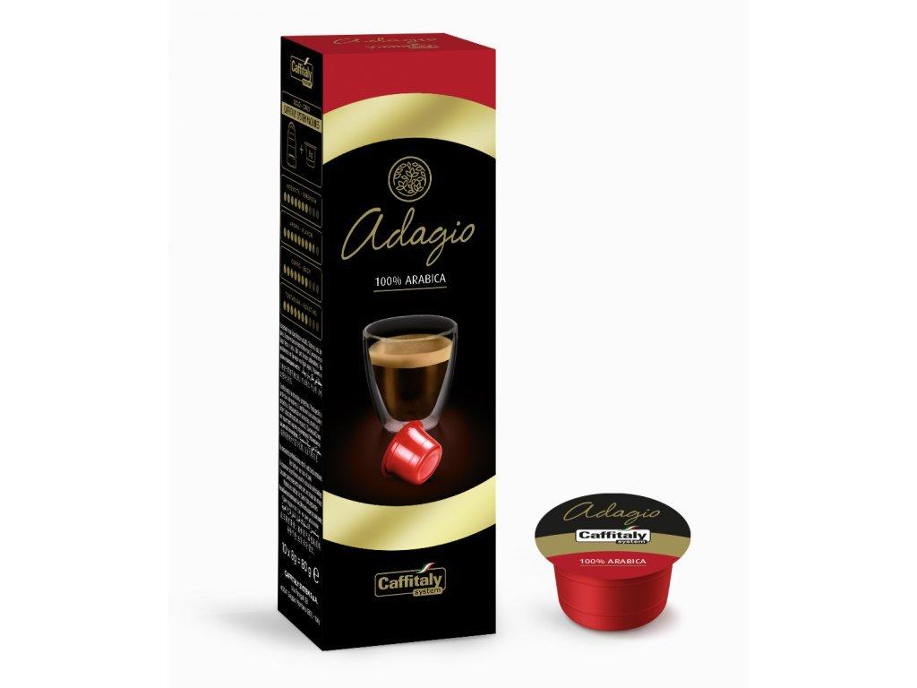 kapsle 100% arabica premium caffitaly adagio 10 ks tchibo cafissimo