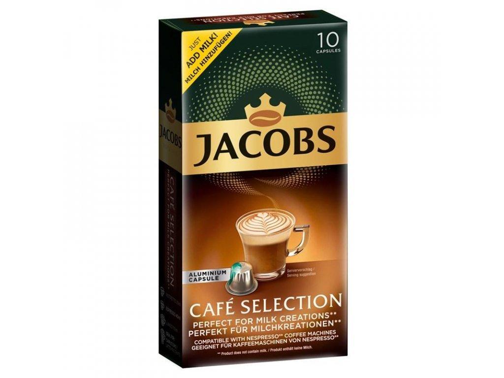 jacobs cafe selection 10 hlinikovych kapsli kompatibilnich s kavovary nespresso