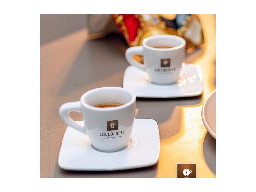 Šálek na kávu s podšálkem LOLLO Caffe  1ks