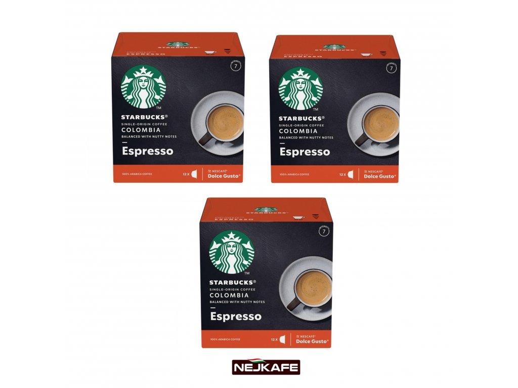 Starbucks Dolce Gusto Colombia Espresso 3x12ks 198g Nejkafe cz