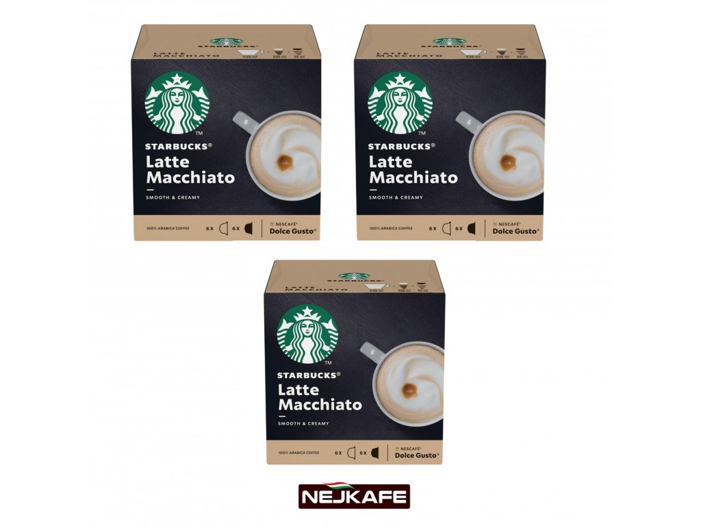 Starbucks nescafe dolce gusto latte macchiato 3 x 12 kapsli nejkafe.cz