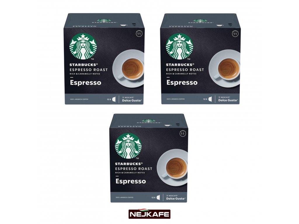 Starbucks nescafe dolce gusto espresso roast espresso 3 x 12 kapsli nejkafe.cz