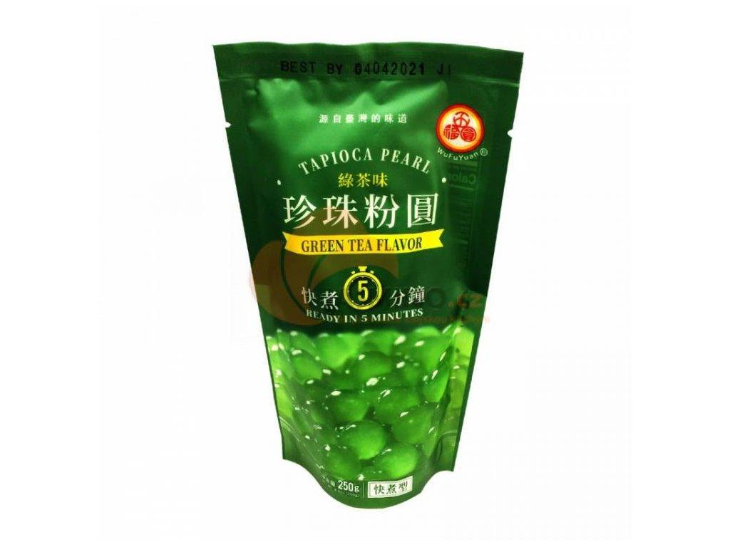 wu fu yuan tapiokove kulicky prichuti matcha 250g bubble tea nejkafe cz