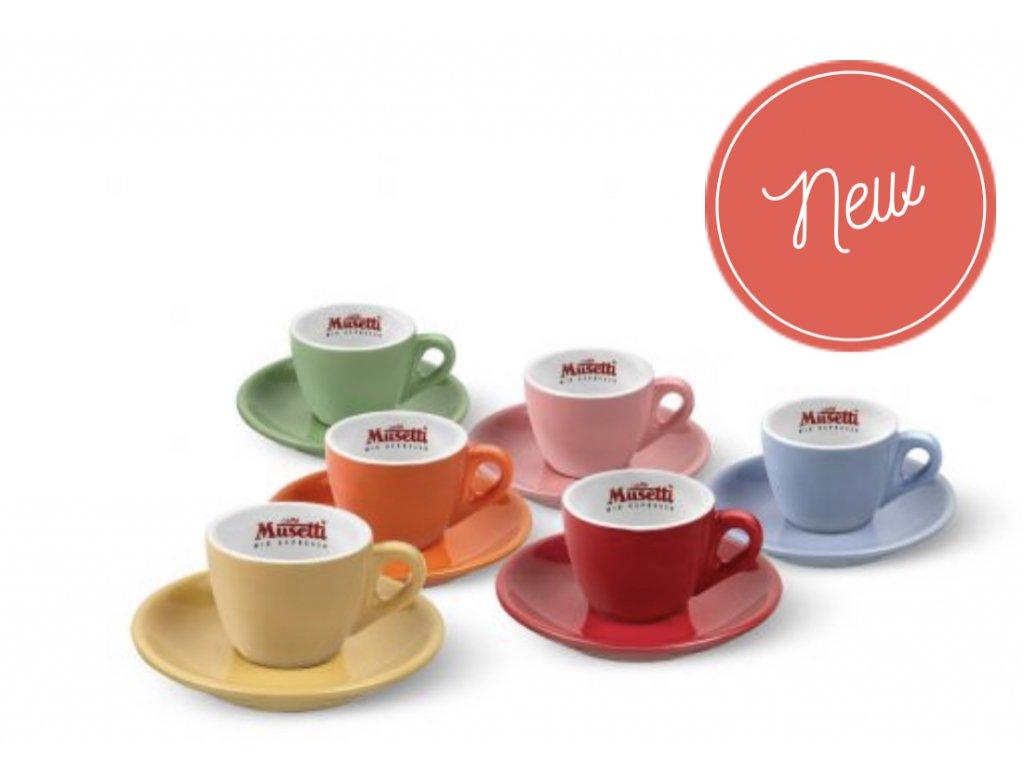 Musetti Kávové  Šálky Rainbow Collection Espresso  80ml 6ks