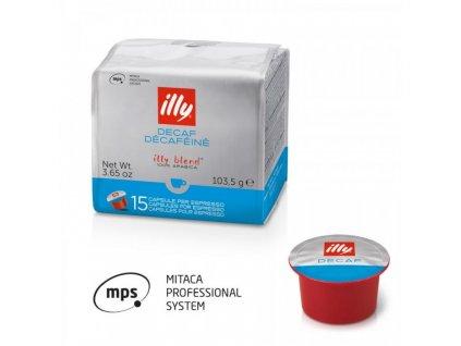 15 capsules illy mitaca mps coffee decaffeinated