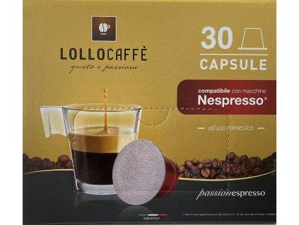 Kávové kapsle Lollo caffé Nero Espresso do NESPRESSO® 30 kusů