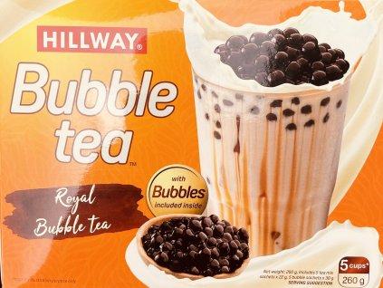 HILLWAY Bubble tea minutkový mléčný čaj s černými perlami 260g