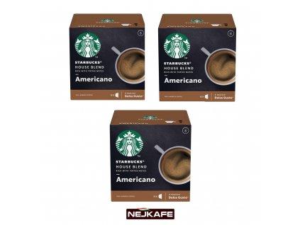 Starbucks Dolce Gusto Americano 3x12ks 306g Nejkafe cz