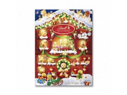 lindt teddy advent calendar 172g front