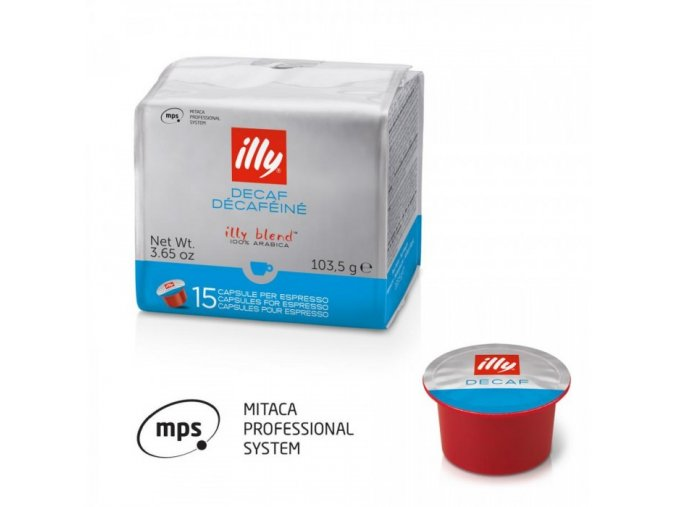 15 capsules illy mitaca mps coffee decaffeinated
