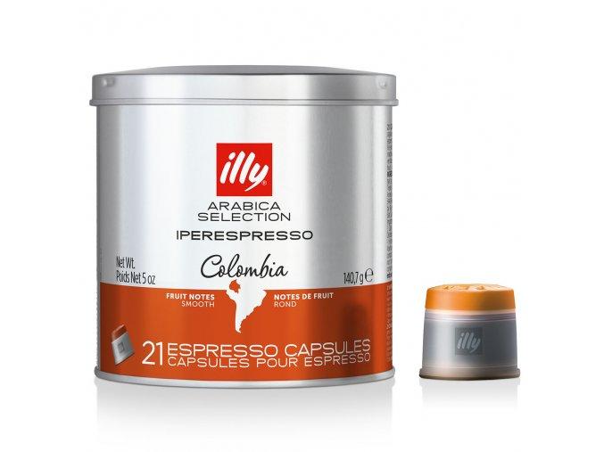 Kávové kapsle Illy IperEspresso Monoarabica Colombia 100% Arabica 21 kusů