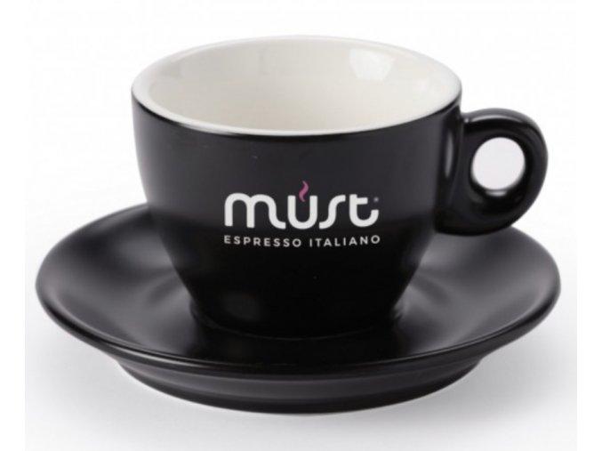 Must porcelánový šálek s podšálkem pro Lungo/Cappuccino 160 ml