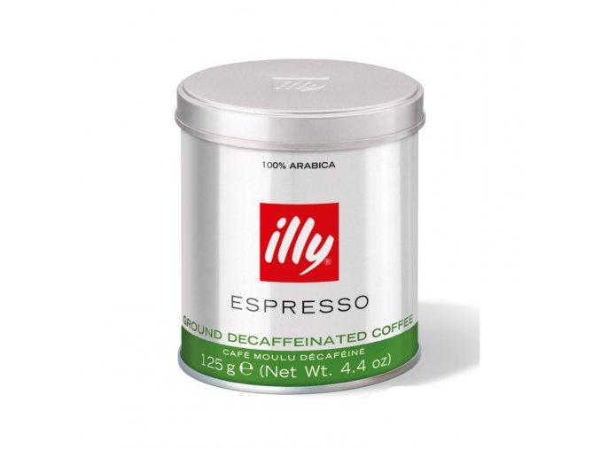 mleta kava illy bez kofeinu 125g