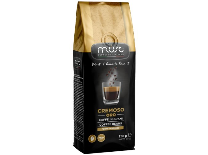 must cremoso oro whole beans 250g 2018