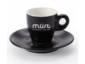 Must porcelánový šálek s podšálkem pro Espresso 60 ml
