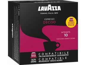 100 capsule lavazza espresso deciso compatibili nespresso