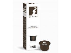 Kapsle vyvážené espresso Caffitaly Ecaffé Corposo 10kusů