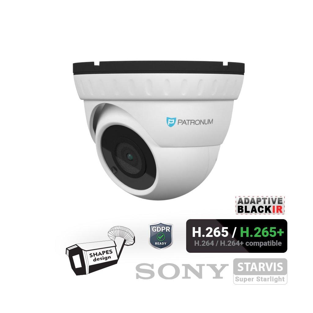 5.0Mpx IP bezpečnostní kamera PATRONUM PR-D30IPWT50FPOEV1