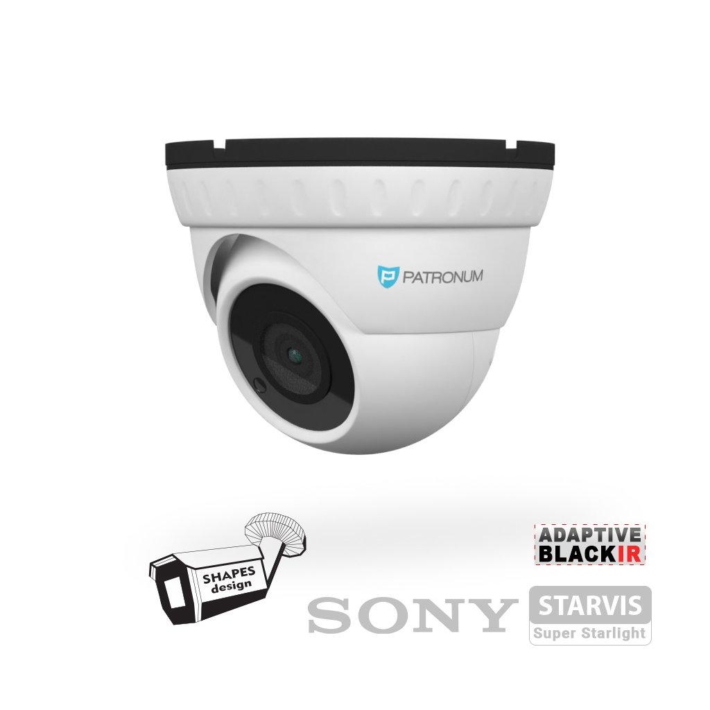 5.0Mpx AHD bezpečnostní kamera PATRONUM PR-D30AHDWT50FV1