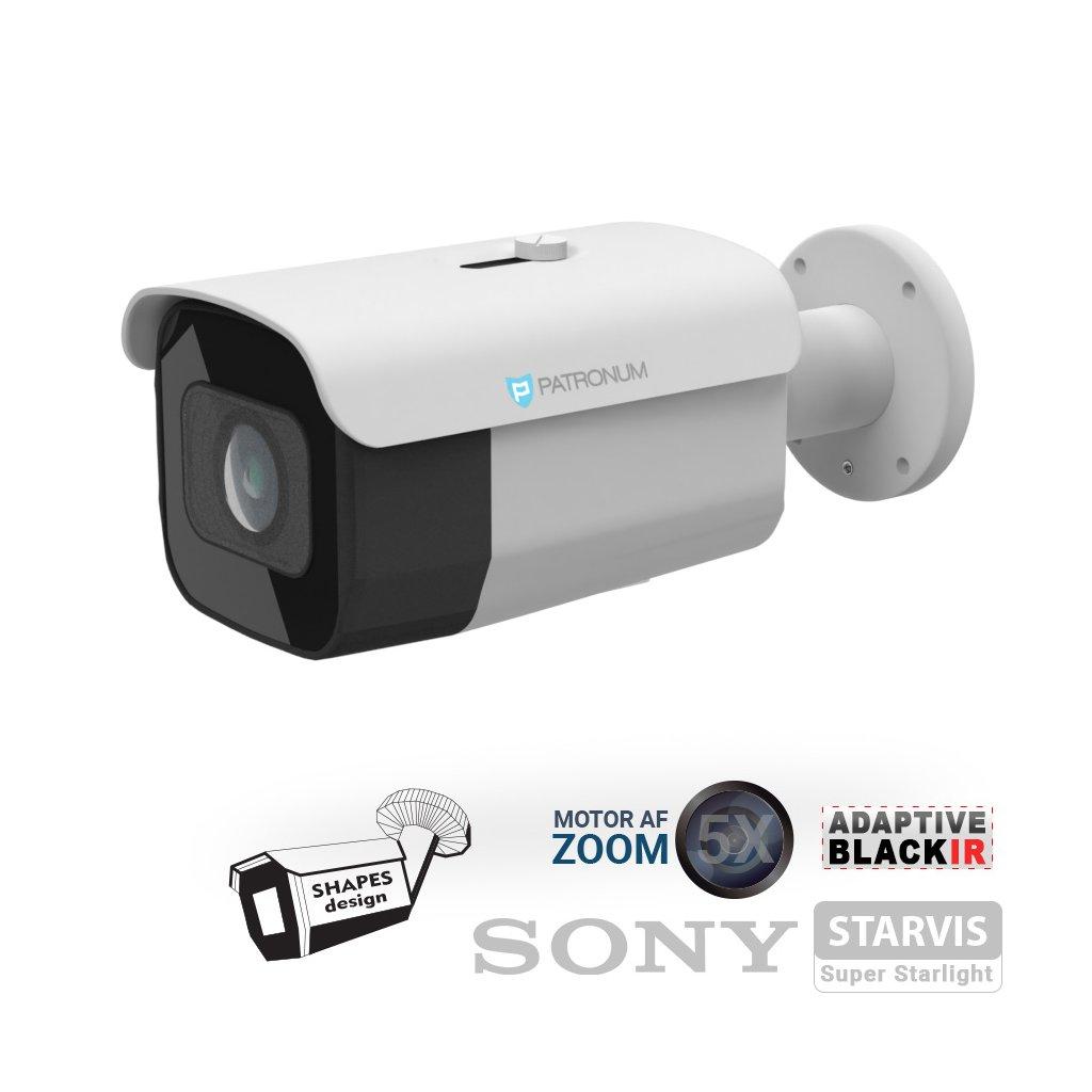 5.0Mpx AHD bezpečnostní kamera PATRONUM PR-B60AHDWT50MZV1