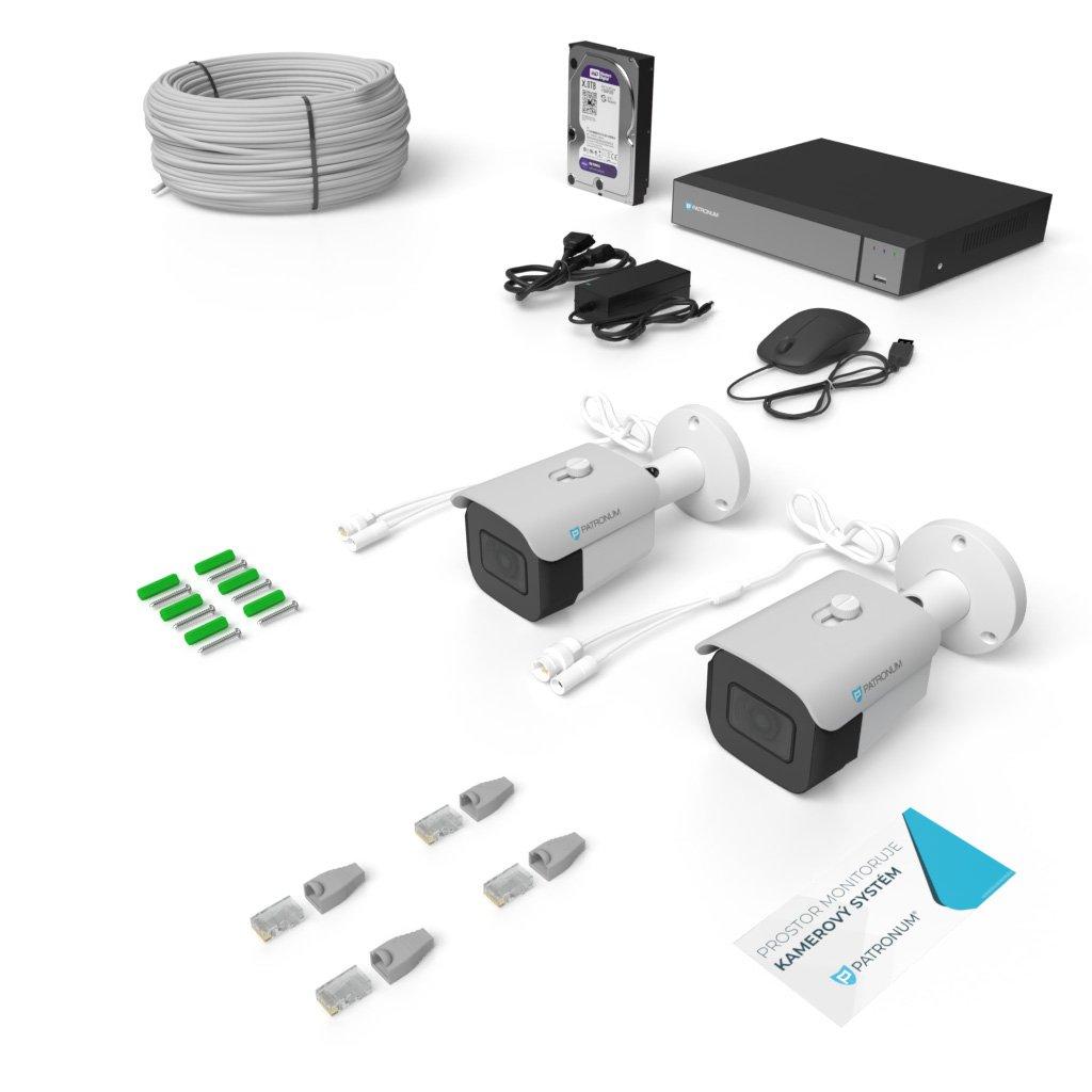 2.0Mpx IP kamerový systém 2xBULLET s IR 30m PROFESSIONAL