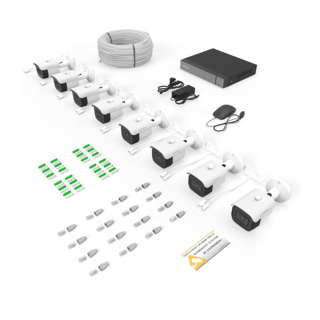 2.0Mpx IP kamerový systém 8xBULLET s IR 30m