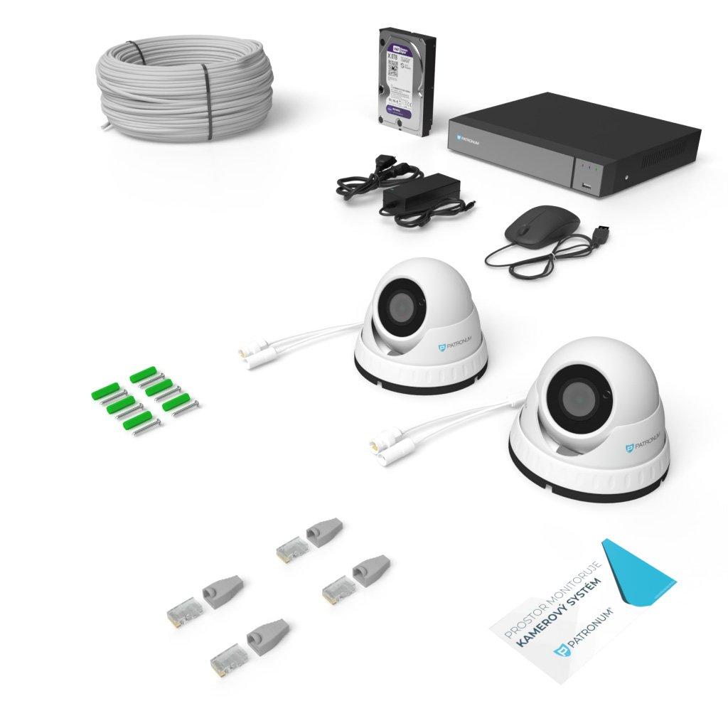 2.0Mpx IP kamerový systém 2xDOME s IR 30m PLUS