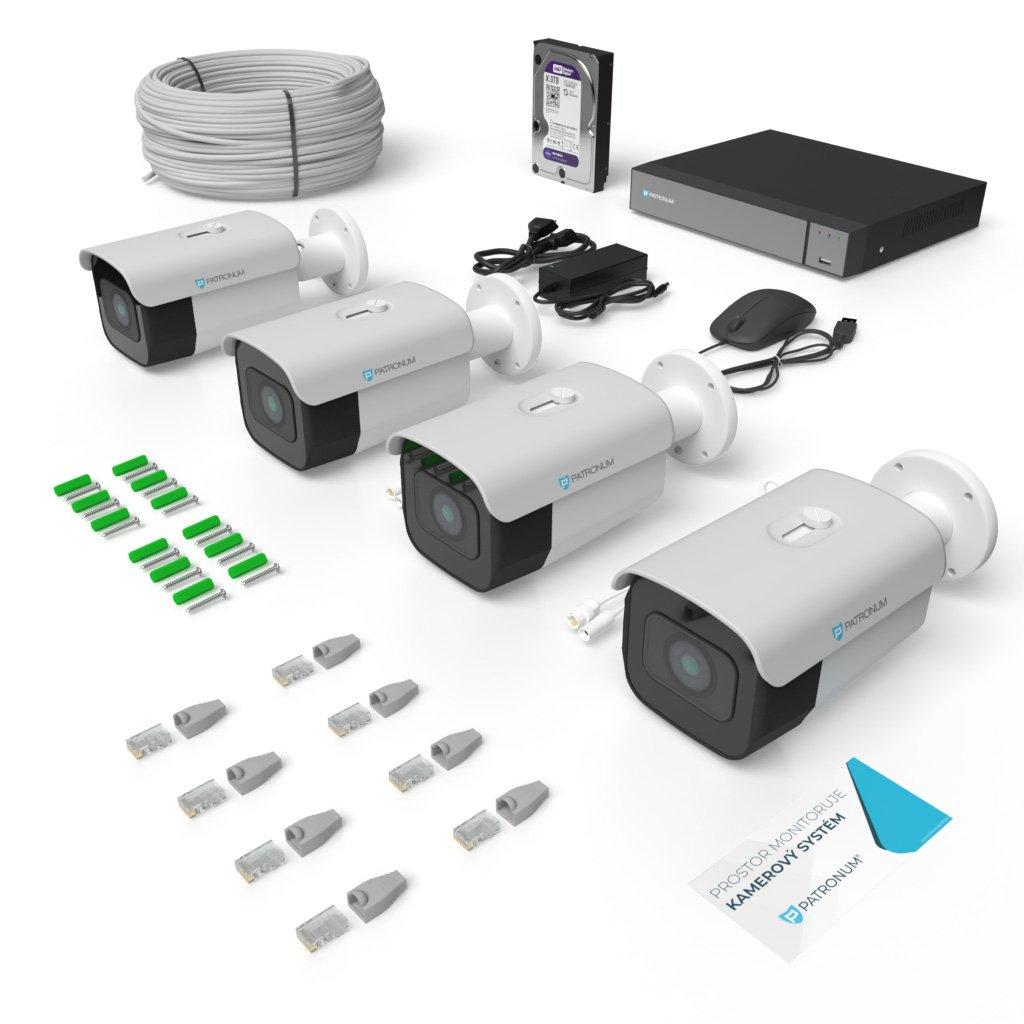 5.0Mpx IP kamerový systém 4xBULLET s IR 40m PLUS