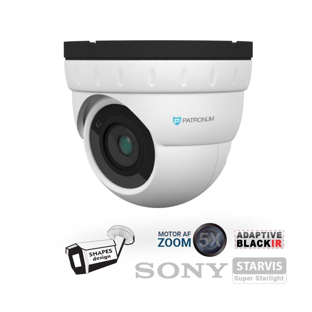 5.0Mpx AHD bezpečnostní kamera PATRONUM PR-D40AHDWT50MZV1