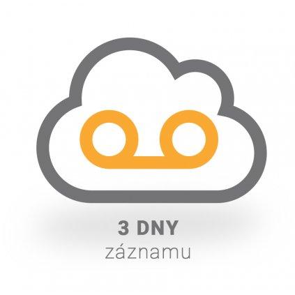 Virtuální IP rekordér PATRONUM na 3 dny záznamu