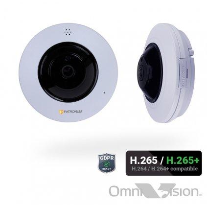 4.0Mpx IP bezpečnostní kamera PATRONUM PR-D360IPWT40FPOEV1
