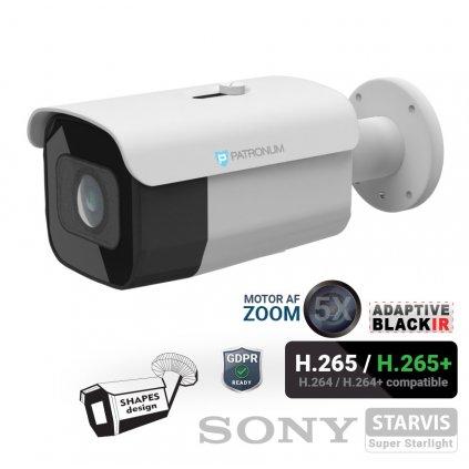 5.0Mpx IP bezpečnostní kamera PATRONUM PR-B40IPWT50MZPOEV1