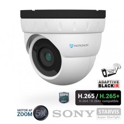 5.0Mpx IP bezpečnostní kamera PATRONUM PR-D40IPWT50MZPOEV1