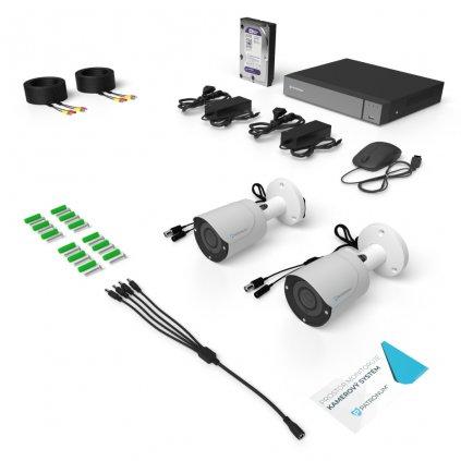 2.0Mpx AHD kamerový systém 2xBULLET s IR 20m ECONOMICAL