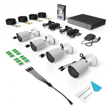 2.0Mpx AHD kamerový systém 4xBULLET s IR 20m ECONOMICAL