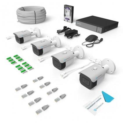 IP kamerový systém BULLET s IR do 30m KONFIGUR