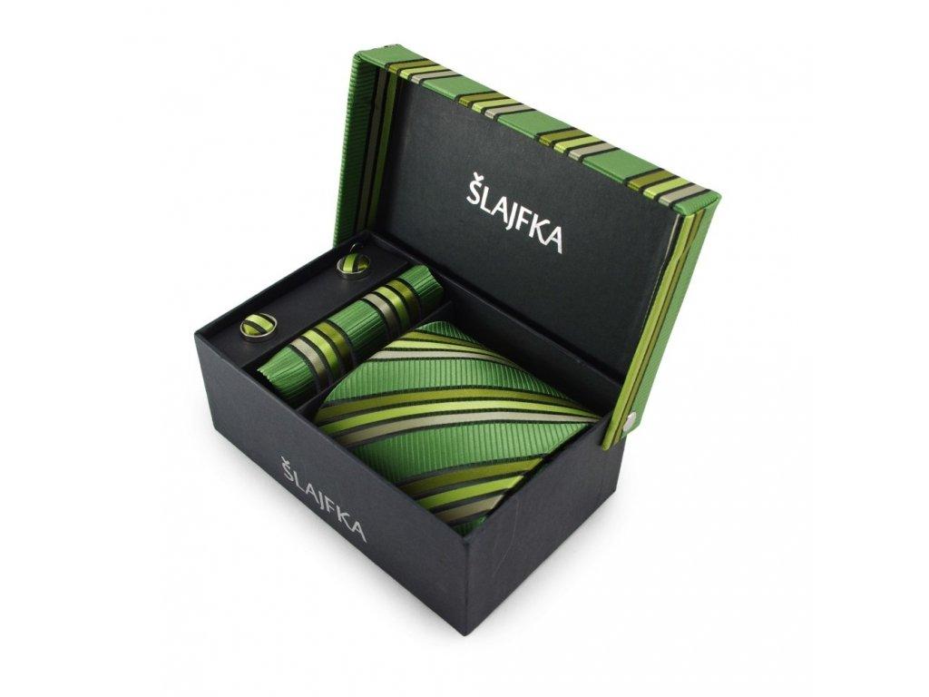 Dárkový set mikrovláknová kravata (zelená)