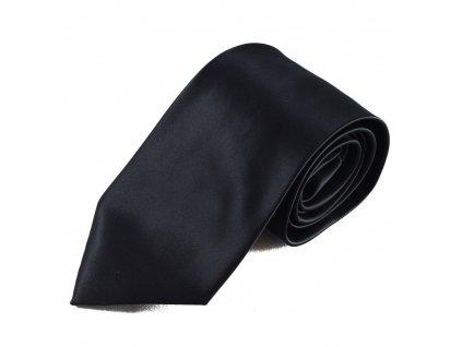 Černá mikrovláknová kravata
