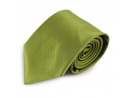 Zelená mikrovláknová kravata s decentním vzorkem