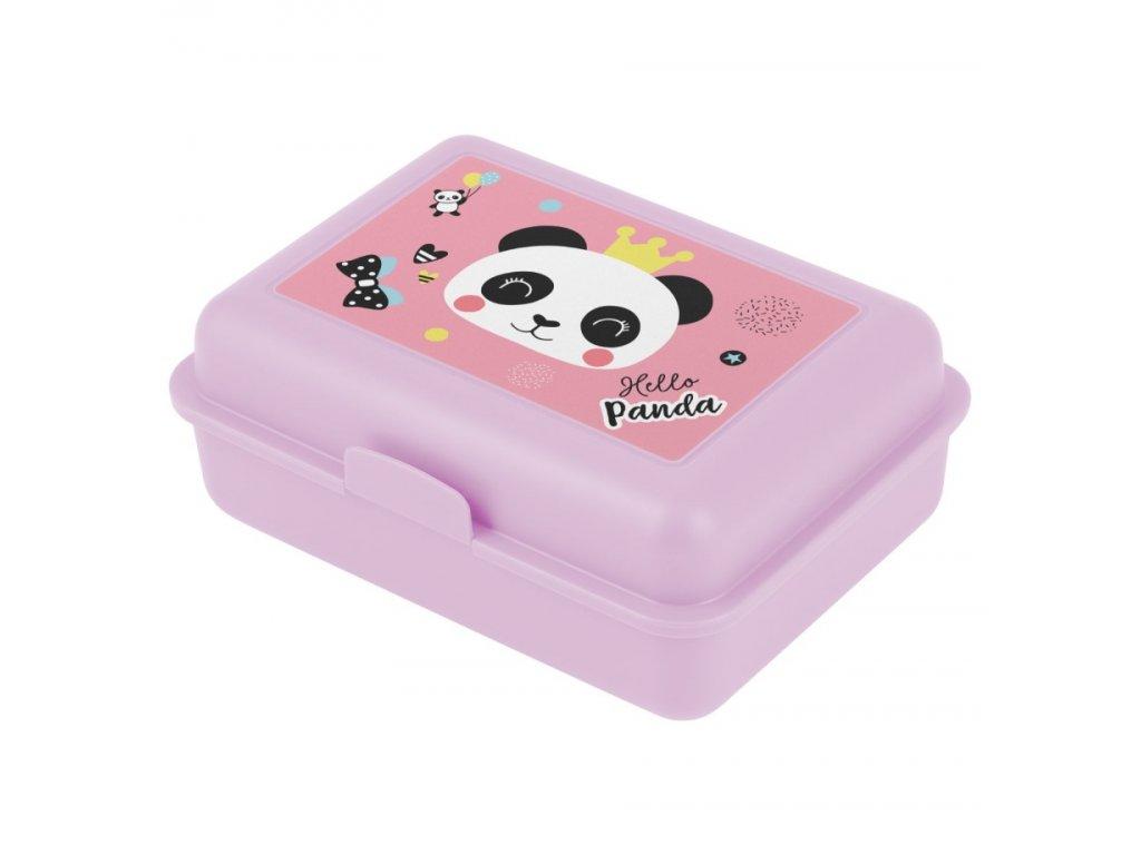 177265 5 baagl box na svacinu panda ruzova