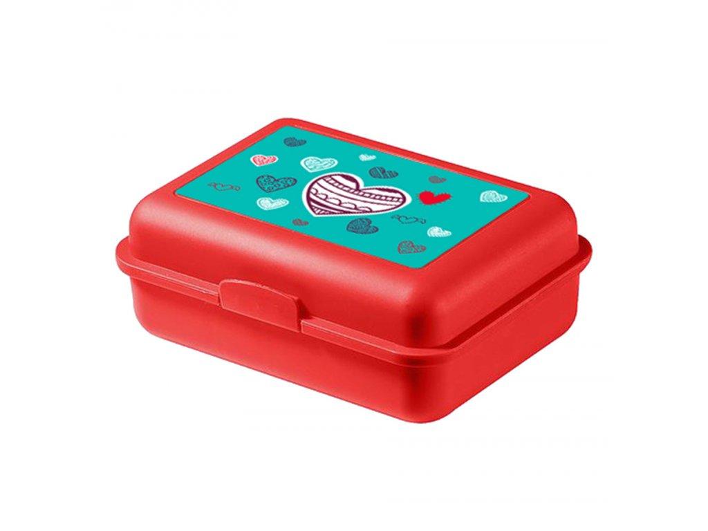 63435 5 baagl box na svacinu srdce