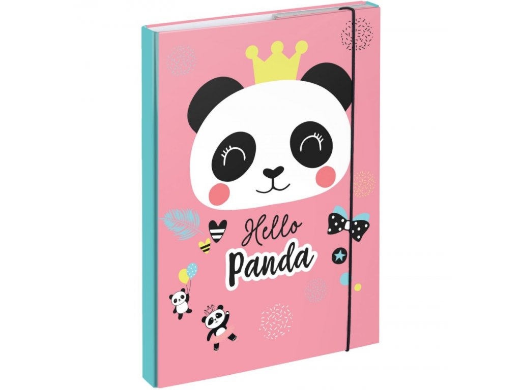 177262 1 baagl desky na skolni sesity a4 panda ruzova