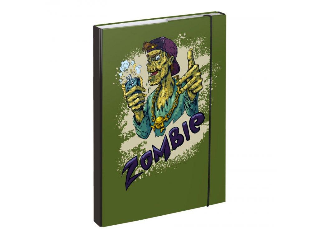 63690 1 baagl desky na skolni sesity a4 zombie