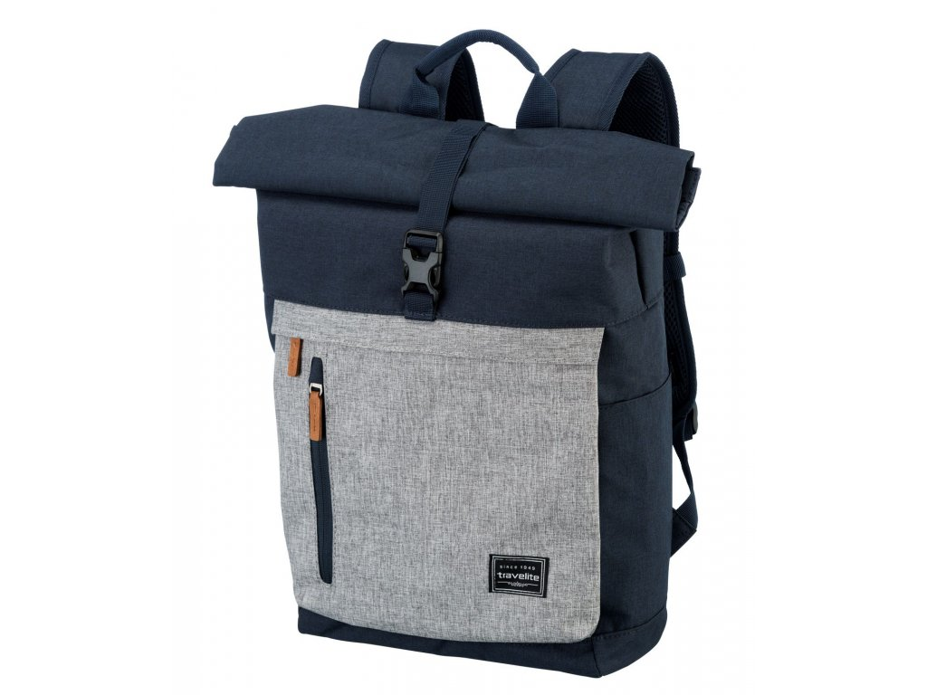 189502 batoh travelite basics rollup navy grey