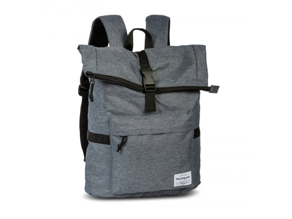 171556 1 batoh worldpack melange zip grey